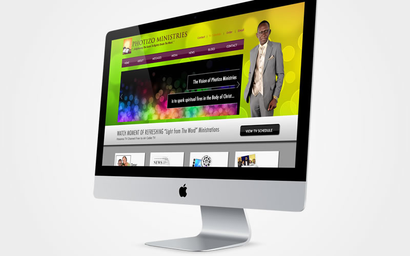 Photizo Ministry Official Website Design